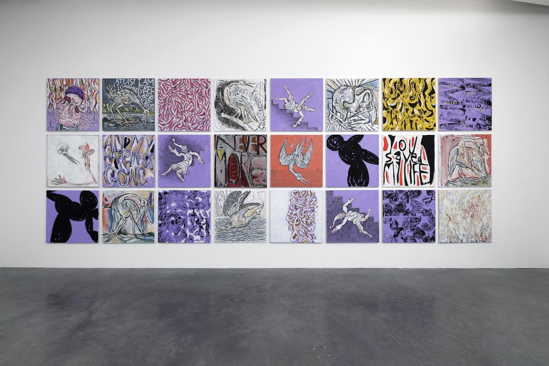 série de 24 peintures de Corentin Canesson © Corentin Canesson/ADAGP, Paris 2021