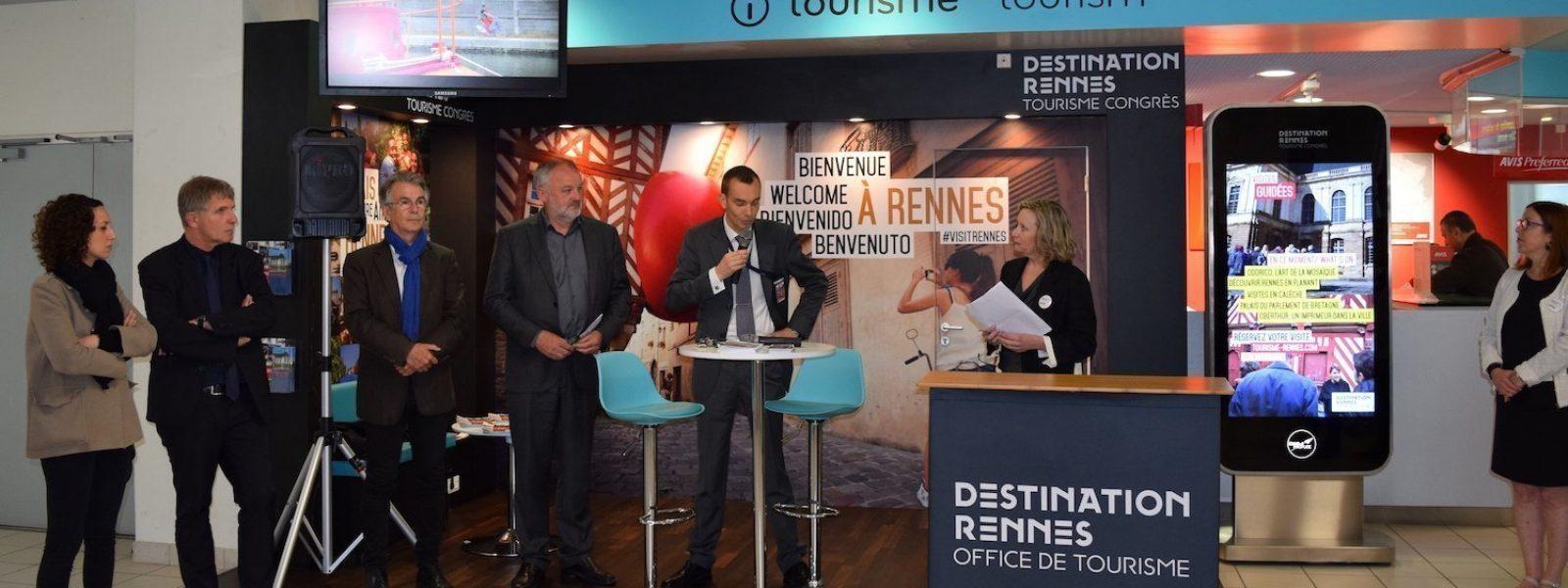 Inauguration de l'accueil Destination Rennes à l'aéroport de Rennes-St Jacques