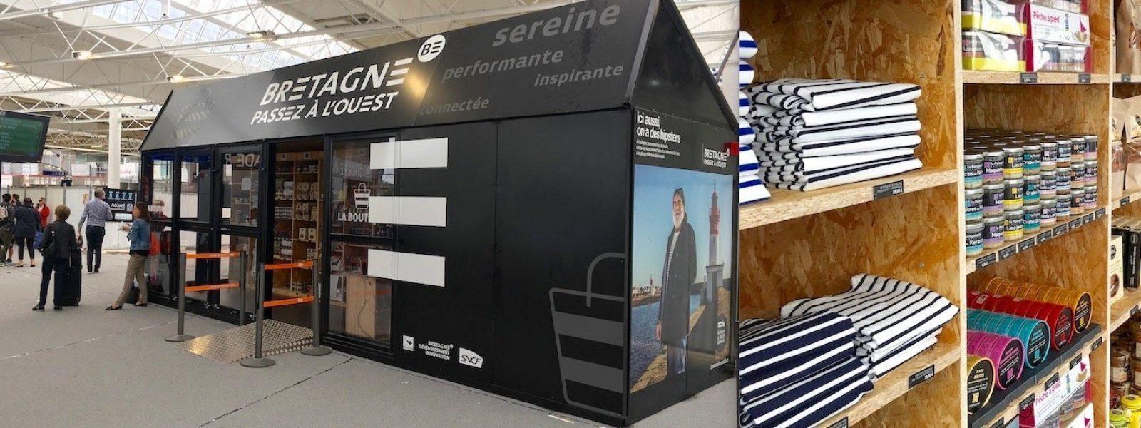 Une boutique éphémère en gare de Rennes