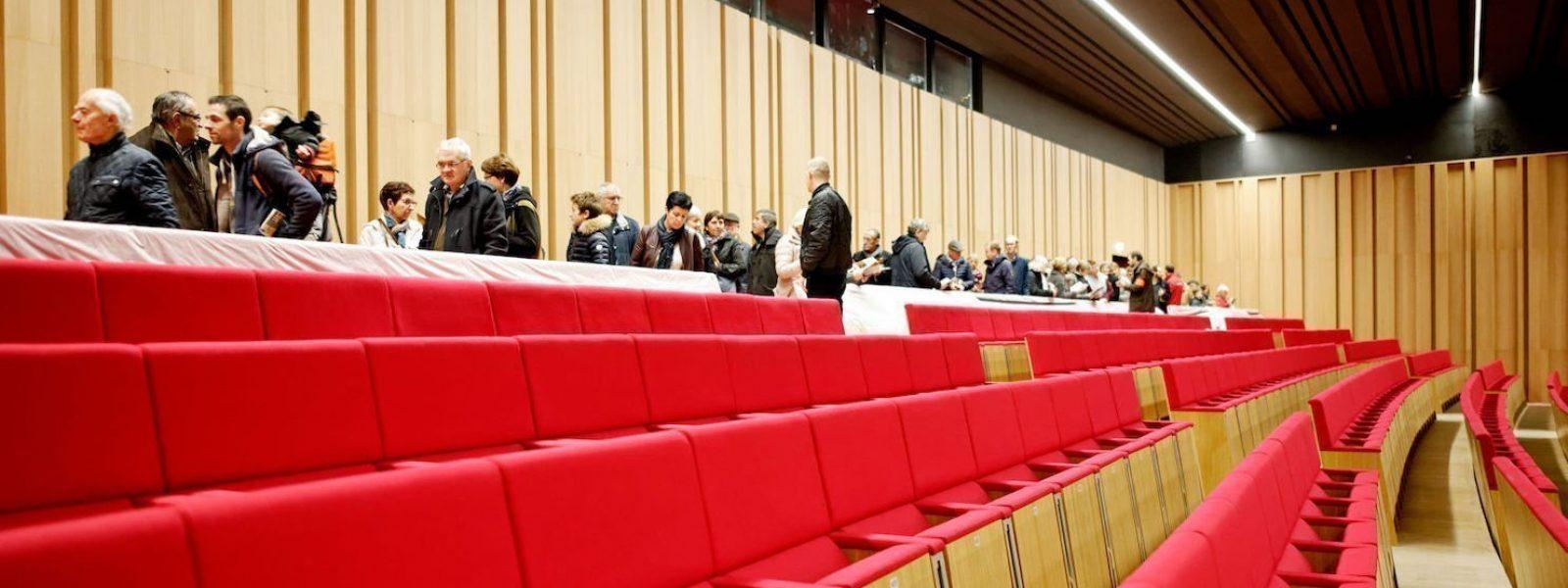 L'auditorium du centre des congrès de Rennes lors des portes ouvertes