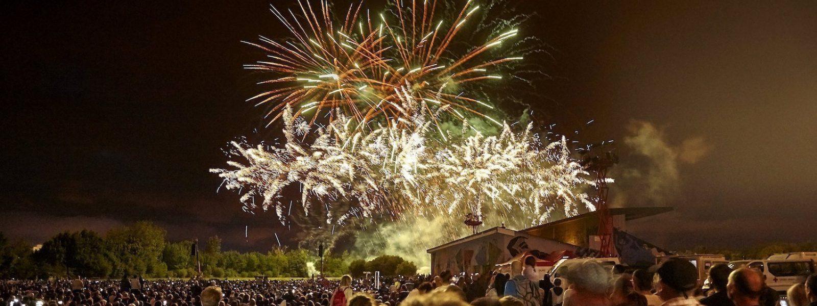 Feu d'artifice du 14 juillet à Rennes en Bretagne