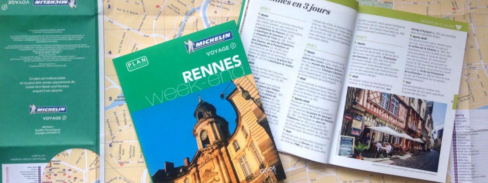 Rennes intègre la collection des guides verts Week-end Michelin