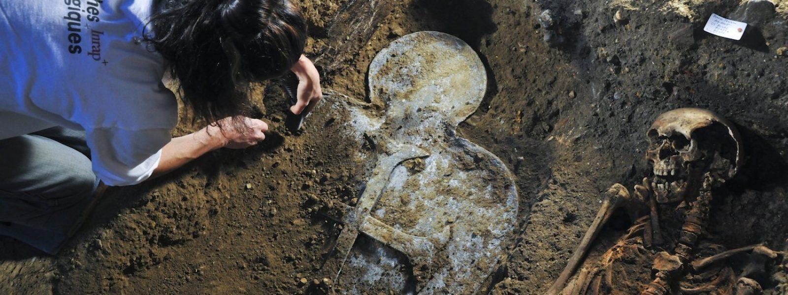 Découverte d'un sarcophage à Rennes