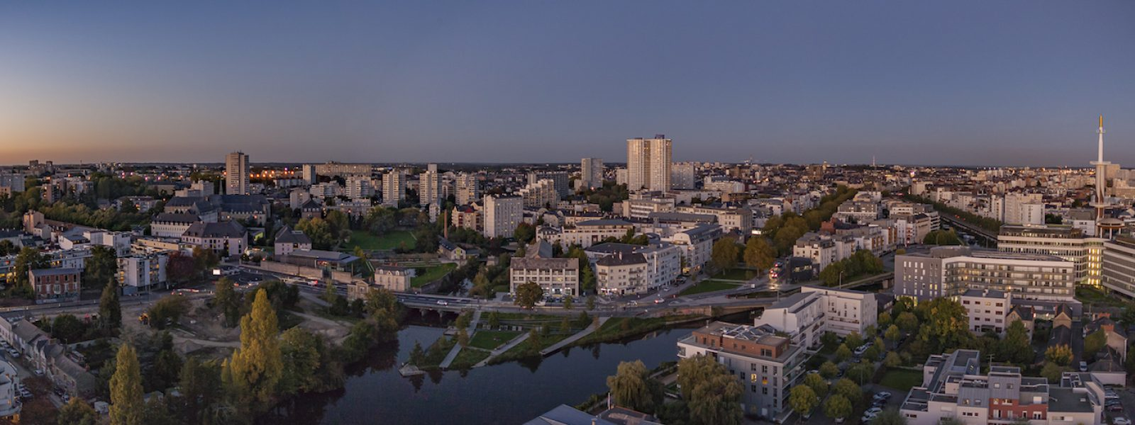Aerial view of Rennes