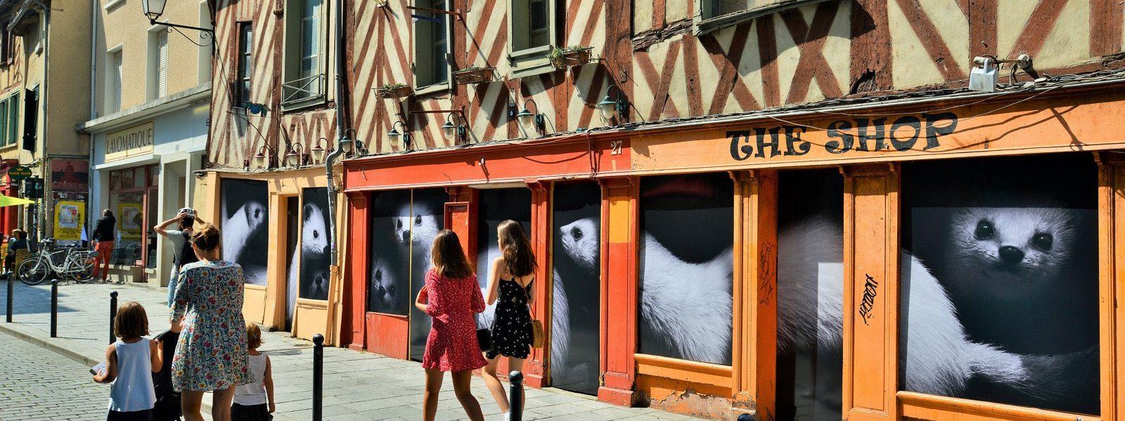 La rue de Penhoët dans le vieux-Rennes